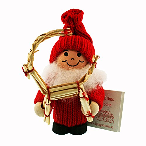 ScandinavianShoppe Tomte Santa with Straw ()
