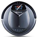 Liectroux B3000 Robot Vacuum Cleaner with Self Charging, LED Touch Screen with Voice Prompt, Vacuum Cleaning Robot with HEPA Filter, Two Side Brush, Remote Control