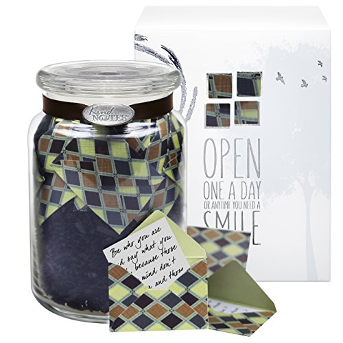 KindNotes Glass Keepsake Gift Jar with Sympathy Messages - Earth Diamonds