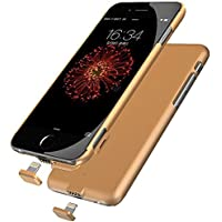 Ultra Slim External Backup Power Charger Battery Case 1500mah real capacity for iPhone 7(4.7inch)(Gold)