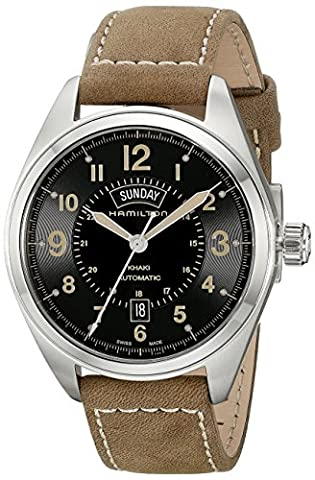 Hamilton Men's H70505833 Khaki Field Analog Display Automatic Self Wind Brown Watch (Hamilton Khaki Field Automatic)