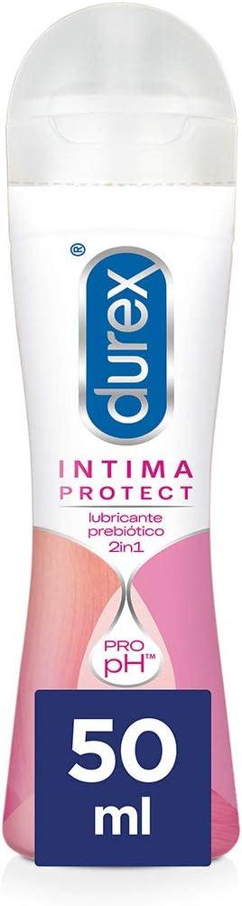 Durex Íntima Protect Lubricante Prebiótico 2In1, Fórmula Pro-Ph, Base Acuosa Y Libre De Fragancias – 50 ml