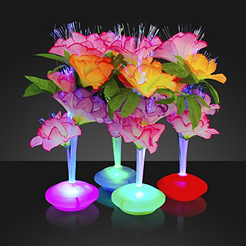 Fiber Optic LED Flower Centerpieces (Set of 12)