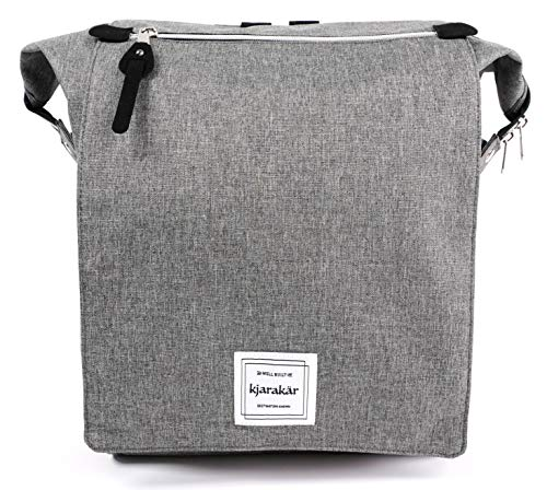 KJARAKÄR Backpack All Around Great Bag for Commuters, Travelers, Moms, Dads and Kids. Use as Diaper Bag, Gym Bag, Bookbag and More! TSA Friendly | Water Resistant (Charcoal)