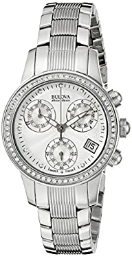 Bulova Accu Swiss Women's 63R141 Diamond Watch