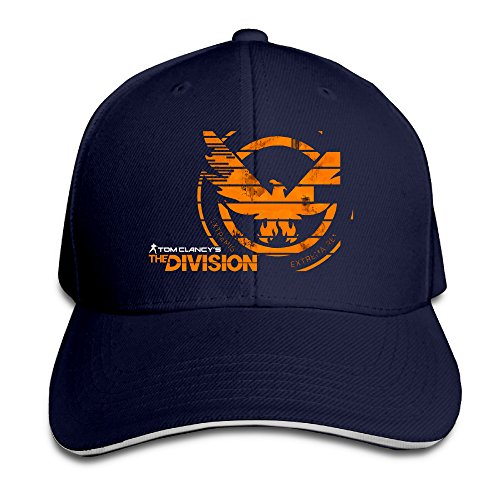 Price comparison product image Fitted Tom Clancy's The Division LOGO Snapback Navy Sandwich Peaked Cap