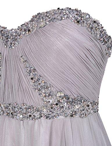 Bbonlinedress Vestido De Fiesta Banquete Elegante Largo Escote Corazón Con Cuentas Blanco