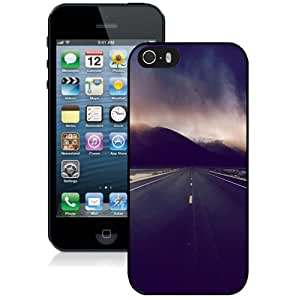 Personalized Phone Case Design with Mountain Highway Stormy Clouds iPhone 5s Wallpaper