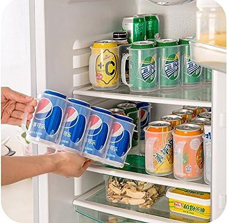 Amazon.com: Honana CF-KT04 Cans Storage Box Refrigerator Fridge Organizer Four Case Sauce Bottle Container: Kitchen & Dining