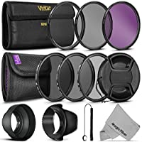 67MM Must Have Lens Filter Accessory Kit for Canon EOS Rebel T6i T6 T5i T5 T4i T3i T3 T2i T1i DSLR Camera with a 18-135MM Zoom Lens