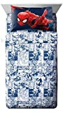 Marvel Universe Battlefront White/Blue 4 Piece Full Sheet Set