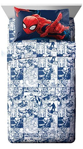 Marvel Universe Battlefront White/Blue 4 Piece Full Sheet Set