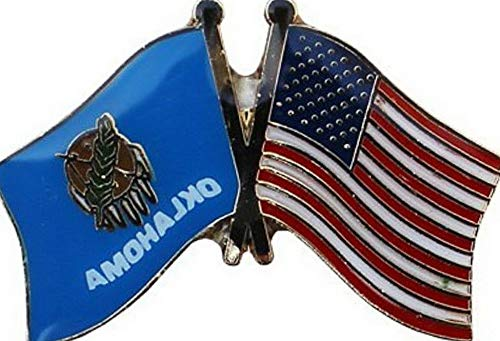 - Hebel USA American State Oklahoma Friendship Flag Bike Motorcycle Hat Cap Lapel Pin | Model FLG - 1868