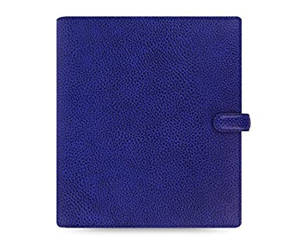 Filofax 2016 Finsbury A5 Leather Organizer Agenda Diary Electric Blue Calendar 022500