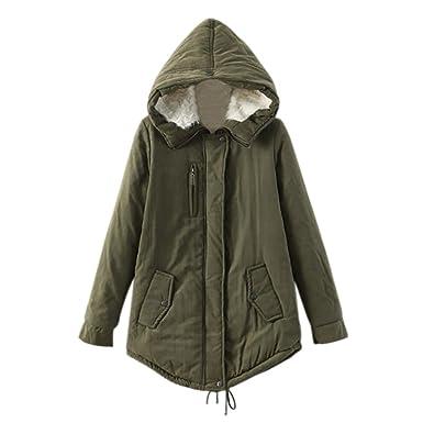 iBaste Medio-Largo Abrigos de Paño Mujer Invierno Manga Larga Chaqueta Military Jacket: Amazon.es: Ropa y accesorios