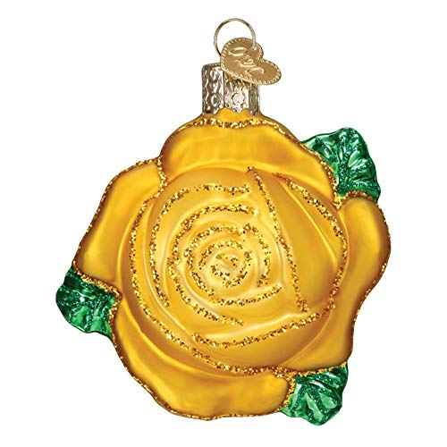 Old World Christmas Hanging Tree Ornament, Yellow Rose