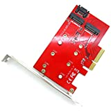 2 Port NGFF M.2 B + M Key SSD to PCI-E PCI Express 4X 4 Lane Adapter Converter Card