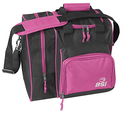 BSI Deluxe Single Ball Bowling Bag- Pink/Black