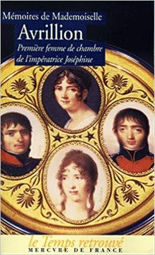 Amazon fr - Mémoires de mademoiselle Avrillion : Première