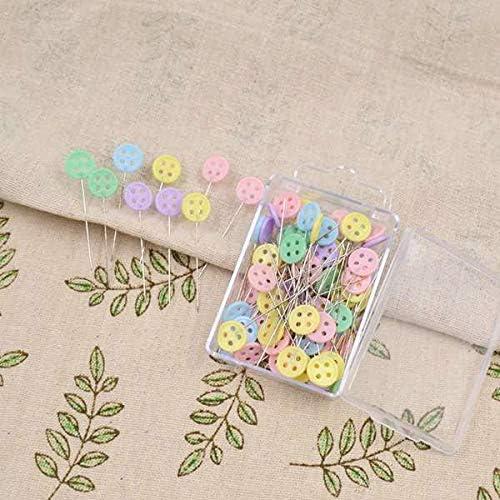 KAPAYONO 200 Pi/èCes S/éRies Accessoires de Couture Patchwork Fleur//Noeud Papillon//Bouton Broche avec Bo?Te Aiguille /à Coudre DIY Patchwork Aiguille Artisanat
