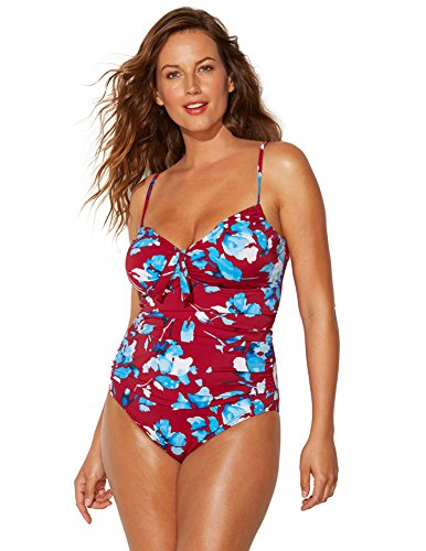 f79717d9473 Shore Club Women s Plus Size Prim Underwire Swimsuit 22 Red