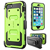 iPhone 5/5s/SE Case, [Armorbox] i-Blason built in [Screen Protector] [Full body] [Heavy Duty Protection ]/Holster/Bumper Case for Apple iPhone SE 2016 Release/Compatible with iPhone 5S/5 (Green)