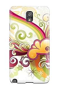 Cute Appearance Cover/tpu QdtvBbM21389glyfd Vector Art Case For Galaxy Note 3