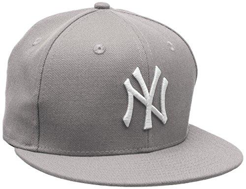 New Era Erwachsene Baseball Cap Mütze Mlb Basic NY Yankees 59Fifty Fitted, Grey/White, 7 5/8, 10003438