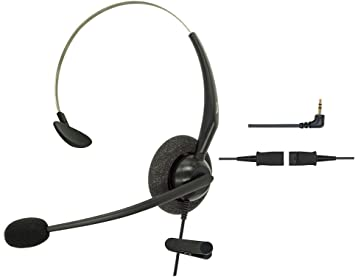 2.5mm Telephone Headsets For Landline Cordless Phones Noise Cancelling