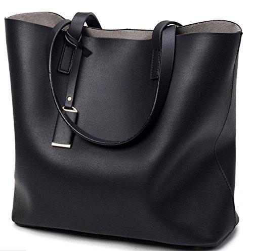 MEILI Bolso grande de las señoras de la moda del bolso grande del bolso negro del bolso de las mujeres , deep blue black