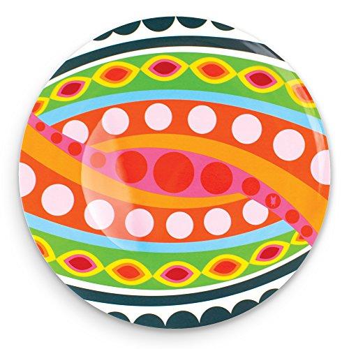 "French Bull 15"" Round Platter - Melamine Dinnerware - Plate, Dish, Serving, Collection - Tropic Fantasia"