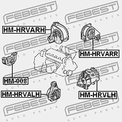 HM-HRVALH Febest ALMOHADA DEL MOTOR ANTERIOR IZQUIERDA AT