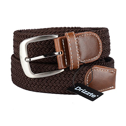 Woven Elastic Belt (Drizzte 59'' Long Plus Size Elastic Braid Woven Mens Belts)