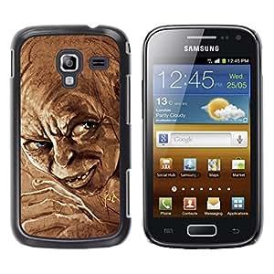 Qstar Arte & diseño plástico duro Fundas Cover Cubre Hard Case Cover para Samsung Galaxy Ace 2 I8160 / Ace2 II XS7560M ( Elf Dwarf Blue Eyes Fairytale Movie Character)
