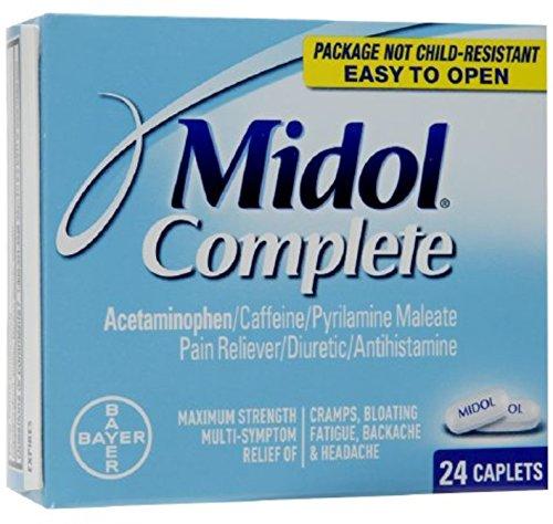- Midol Menstrual Complete Caplets 24 ea (Pack of 4)