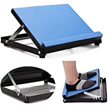Slant Board - Calf Stretcher Wedge Stretch Ankle Incline Board Stretching Physical Therapy Equipment Soft Foam Adjustable 4 Position (Blue)