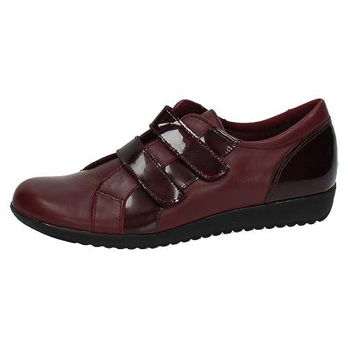 MADE IN SPAIN 933 Mocasines DE Mujer SEÑORA Zapatos MOCASÍN Burdeos 35