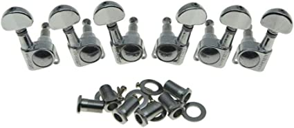 Chrome Wilkinson Vintage Roto Style Guitar Tuners LP Style 3+3