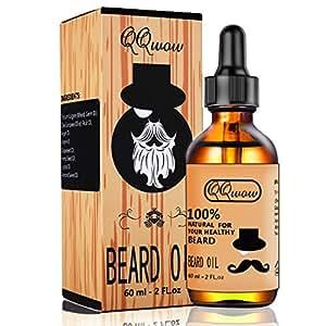 2 Packs Fragrance Free Beard Care Oil for Men 100% Natural Organic Tea Tree Jojoba Oil Leave in Conditioner Softener for Mustache Grooming Moisturizing 30ml 1 fl oz