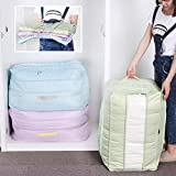 Sivin 84L Single-Layer Space Adjustable Travelling Bag, College Carrying Bag, Camping Bag,Move House Keeping,Festival Decoration Storage Bags with Transparent Window Set of 3(Blue+Green+Purple)