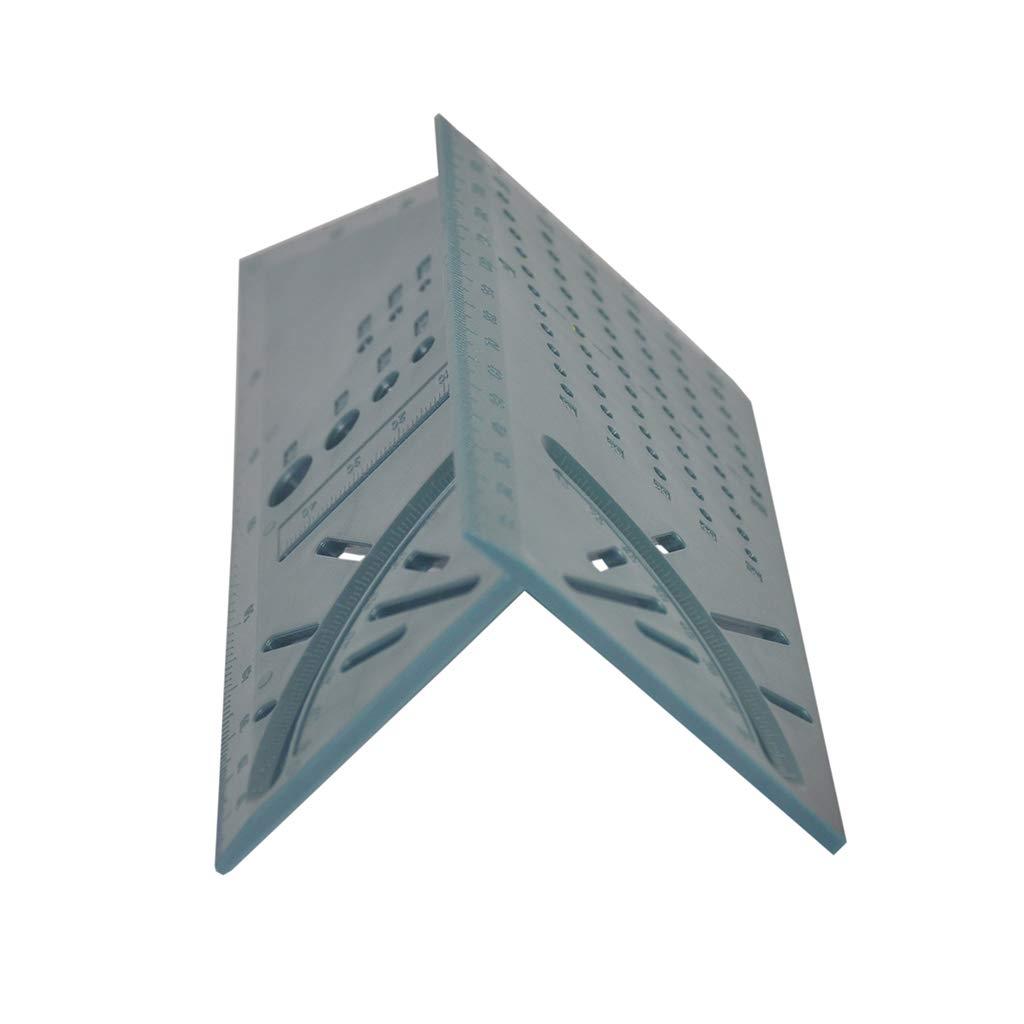 JumpXL 3D Layout Angle Size 45/°90/°Metric Square Gauge Measuring Woodworking Tool Ruler Caliper Measurement Carpentry