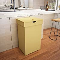 Jeroal Trash Can Garbage Bins Waste Container 13 Gallons Recycling Dustbin Litter Bin Cabinet Wooden Kitchen Wastebaskets Space Saver With Lid In Yellow 16 W X 13 D X 26 5 H Amazon Sg Home