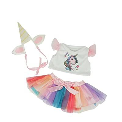 "Unicorn Outfit Fits Most 14"" - 18"" & Animals Make Your Own Stuffed Animals: Toys & Games"