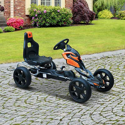 Outdoor Toy Gift w/Hand Brake Pedal Go Kart Ride-on Kids Car Racer Bike (2 Seater Go Karts For Sale Cheap)