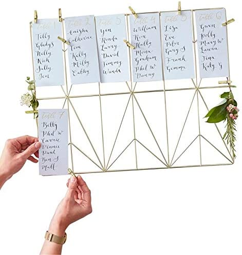 DIY Hochzeit Sitzplan
