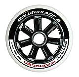 Rollerblade Hydrogen 125mm 85A Wheels Black 125 mm & Headband Bundle
