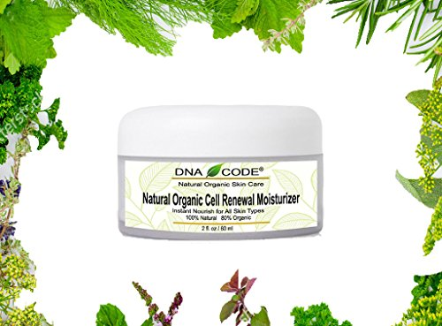 DNA Code- 100% Natural Organic Cell Renewal Moisturizer for Sensitive, Oily, Dry, and damaged skin