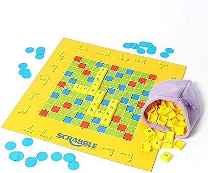 Lloow Niveles de la Junior Scrabble Wörter Fun Game Juego de Aprendizaje de día Crossword Game para Les 3 años y más: Amazon.es: Hogar