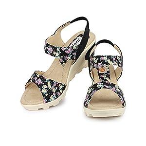 DIGNI Women's Synthetic Open Toe Heel Sandal