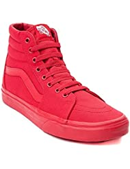 Vans Sk8 Hi Skate Shoe (Mens 8.5/Womens 10, Red)
